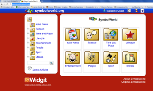 Image of SymbolWorld.org home page
