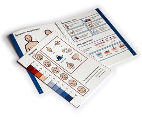 Widgit's First Response Communication book.