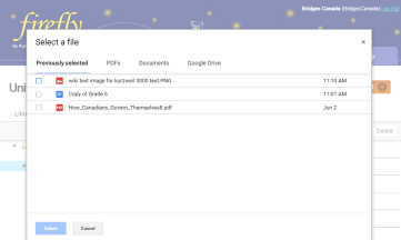 screen shot Google drive in firefly Kurzweil 3000
