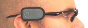 Quha Zono Gyroscopic mouse attached to an eyeglasses frame.